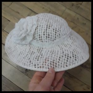 Vintage Accessories - Awesome Vtg 60s white lace hat! 9735dce8c35